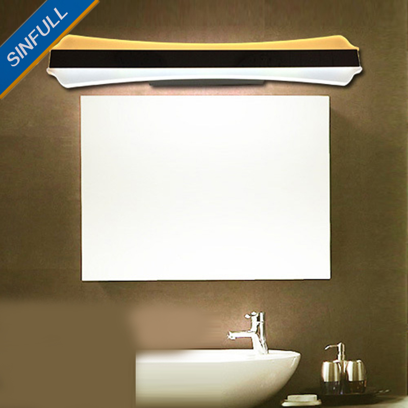 Modern LED Mirror Light Minimalist Bathroom Wall Lamp Acrylic 12W 15W Sconce AC85-265V Led Dressroom Home Lighting Luminaria 6w 9w led wall lamp modern bathroom mirror light acrylic lampshade chrome metal sconce home decoration fixture 110 220v