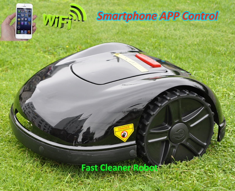 Smartphone WIFI APP Robot Lawn Mower E1600T with Extra 100 meters wire + 100pcs Pegs+4pcs blades цены