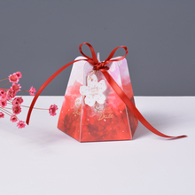 50Pcs Creative Candy Box Five corners Dream wedding favor box baby shower gift box packaging paper boxes Festival Party Supplies dream box
