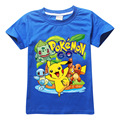 4-10Y 2017 New Boys T Shirt Pokemon Go Cartoon Children Pikachu T Shirts For Boys Girls Tees Cotton Tops Kids clothes