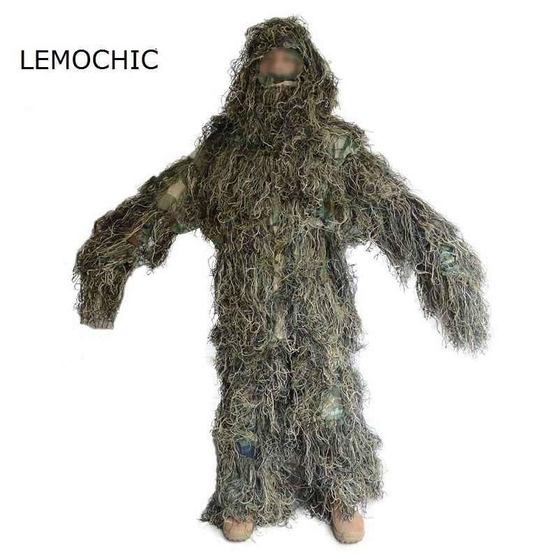 LEMOCHIC ghillie suits special forces clothing camouflage tactical militar clothes combat hunting army multicam uniforms men mens tactical jackets pants uniforms hunting clothes yellow python camouflage suit army military multicam combat ghillie suits