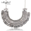 Vintage Maxi Statement Necklaces & Pendants Bohemian Coin Necklace Women 2019 Female Choker Collier Femme Boho Jewelry Bijoux