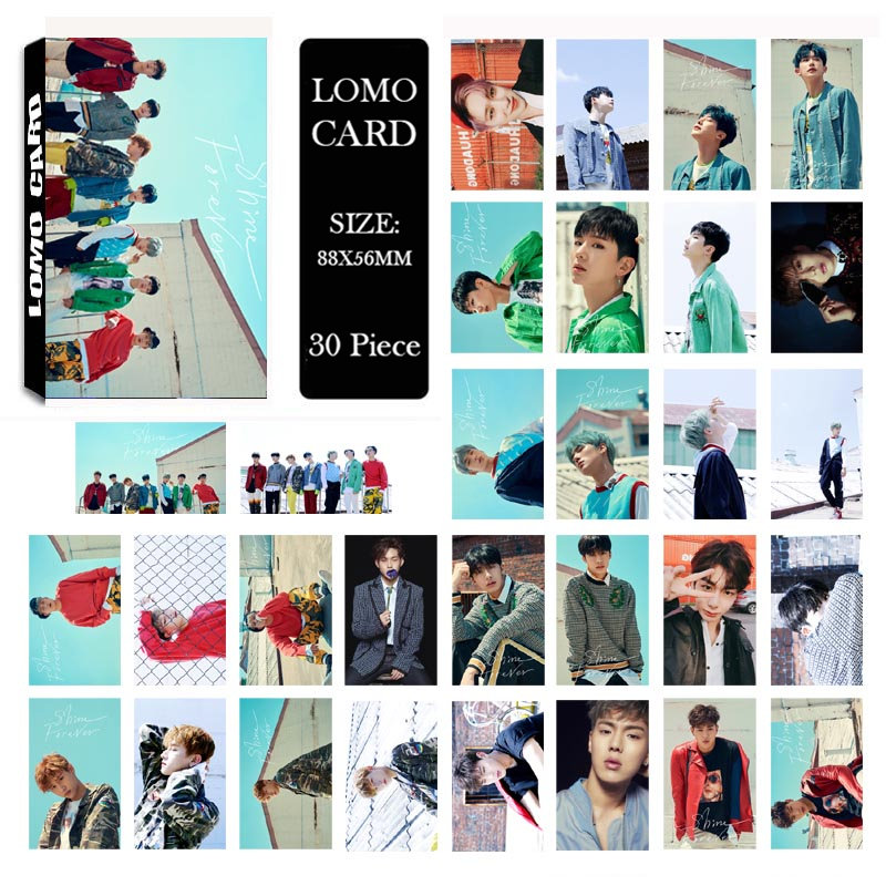 Youpop KPOP MONSTA X SHINE FOREVER Album LOMO Cards K-POP New Fashion Self Made Paper Photo Card HD Photocard LK502 youpop kpop blackpink album laser pu bag jewelry admission package new fashion backpack bags sjb618