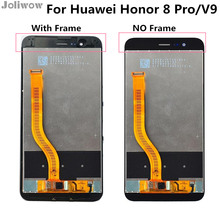 лучшая цена With frame For Huawei Honor 8 Pro V9 LCD Display+Touch Screen Digitizer Assembly for V 9 Display