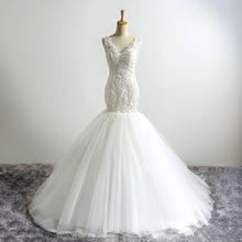Jark Tozr Mermaid Wedding Dresses 2019 V-neck Beading