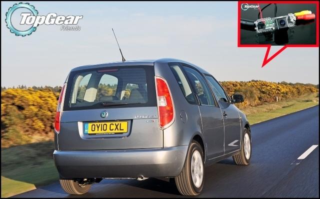 Câmera do carro Para Skoda Roomster (tipo 5J) 2006 ~ 2014 de Alta Qualidade Rear View Camera Back Up Para Os Fãs de TOPGEAR | CCD + RCA