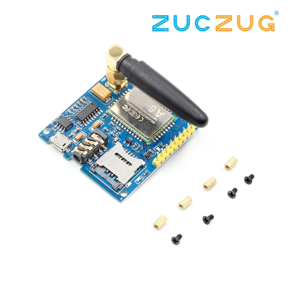 1Set A6 GSM GPRS Module TTL/RS232 Serial Core Development Board With Antenna GPRS Text Wireless Data Transmission Replace SIM900