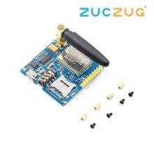 1Set A6 Gsm Gprs Module Ttl/RS232 Seriële Core Development Board Met Antenne Gprs Tekst Draadloze Gegevensoverdracht vervangen SIM900