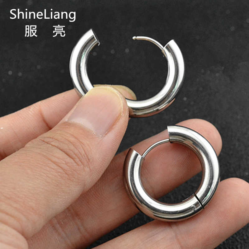 4cb6425194c73d YOU MAY ALSO LIKE. Hoop Earrings for men women Small round circle Stainless  steel Rings ear Fashion jewelry brand Wholesale