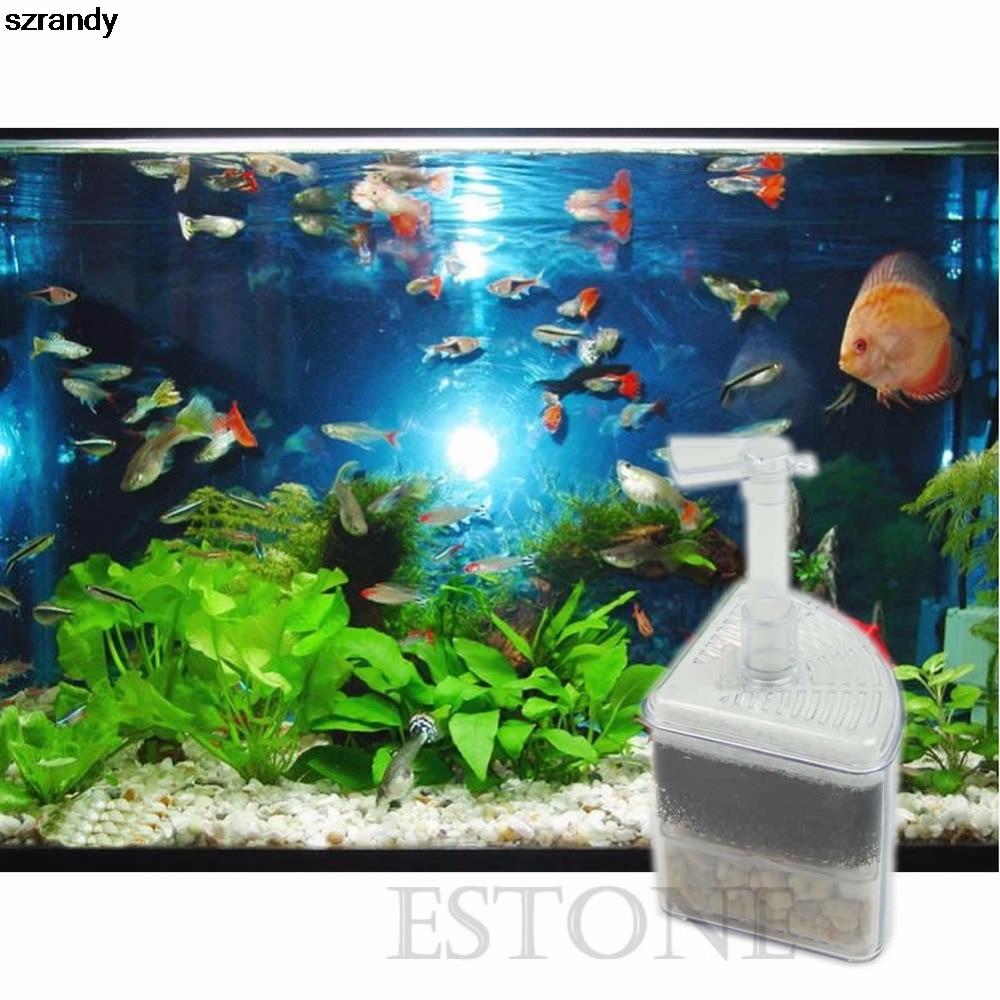 Fish aquarium price list - 1pc Biochemical Air Driven Corner Sponge Filter Fry Shrimp Fish Aquarium Tank China Mainland