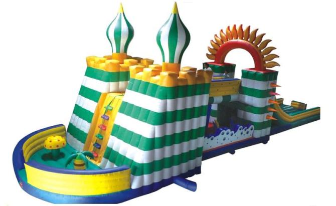 Castle Inflatable Bounce House kids and adult inflatable bounce house obstacle course with blowers