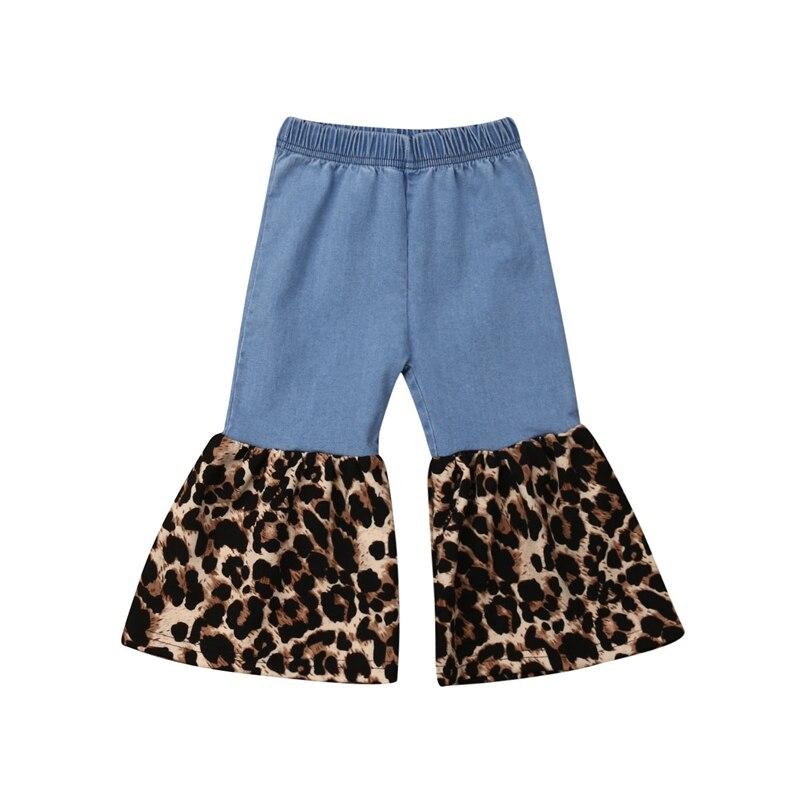 1-5 Jahre Neue Mode Infant Neugeborenen Baby Mädchen Hosen Kleinkind Kinder Baby Mädchen Leopard Jeans Casual Hosen