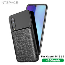 NTSPACE 4700mAh Battery Case For Xiaomi Mi 9 SE Silicone Shockproof Charging Cases Ultra Slim Backup Power Bank Cover