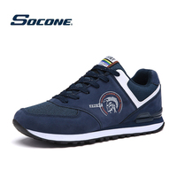 Spring Running Shoes For Men Outdoor Sports Sneakers Running Shoes Breathable Mesh Leather Outdoor Training Trekking