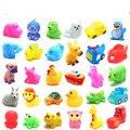 Lindo de goma suave muchos animales pato flotador de compresión de sonido bebé lave bath juguetes play juguetes animales niños juguetes para el baño