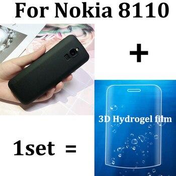 Para Nokia 8110 ultra fina funda de silicona suave cubierta trasera + 3D película de hidrogel fundas para teléfono con motivos para Nokia TA-1059 película protectora