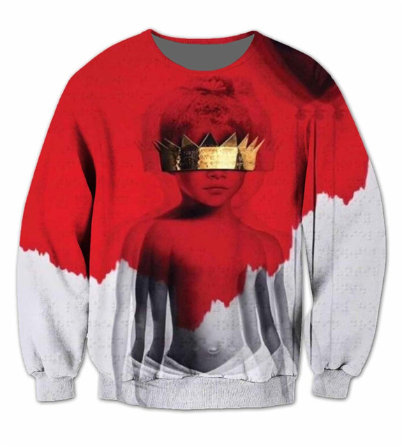 2018 new fashion Women/Men Jumper Outfits sweatshirt 3d character printed Rihanna Anti 3D Sublimation crewneck hoodies sweats