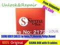 Latest sigma box (9 cabos) original-desbloquear e ferramenta de reparo do telefone móvel para nokia & zte & motorola para philips & huawei frete grátis
