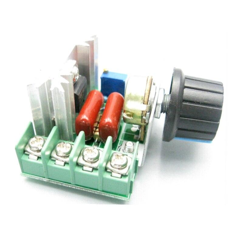 Voltage Regulator AC220V 2000W SCR Volt Control Instrument With Dimming Speed Temperature Control Module