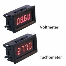 2 в 1 светодиодный Тахометр Датчик Цифровой RPM вольтметр для авто двигатель вращающийся скорость MAY25 Прямая поставка