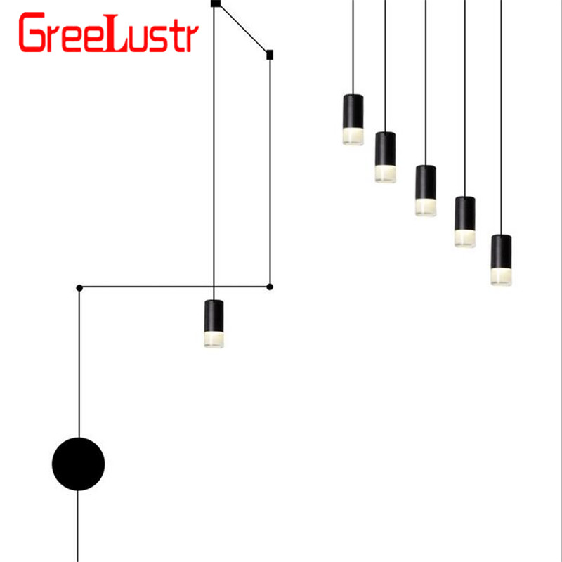 Nordic Vibia Line Geometric Led Pendant Light Wireflow Design Hanging Pendant Lamp Industrial Wires Adjustable Lustres Luminaria