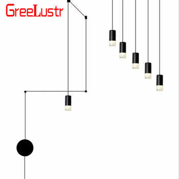 Nordic vibia Line Geometric Led Pendant Light Wireflow design hanging pendant lamp industrial Wires Adjustable Lustres luminaria - DISCOUNT ITEM  55% OFF All Category