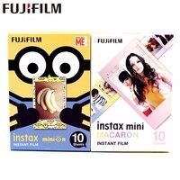 20 Простыни Детские Fujifilm Fuji Instax Mini 8 Новый Макарон + желтый Миньон Плёнки для 7 8 9 50 s 7 s 90 25 Share SP-1 SP-2 мгновение камер