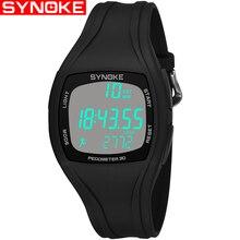 Synoke для мужчин спортивные часы шагомер калорий хронограф G квадратный черный часы водостойкий шок цифровые наручные подарок