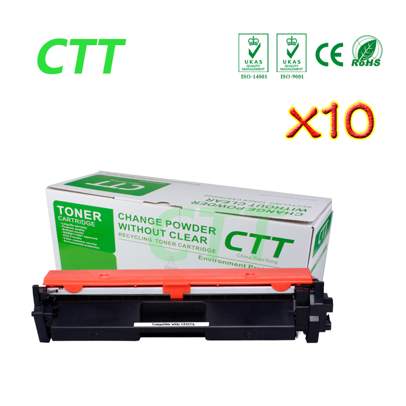 10PCS Toner Cartridge for HP17A 17A CF217A free shippingfor HP LaserJet Pro M102a/M102w/MFP M130a/M130fw/M130nw printer no chip toner powder for hp 285 ce285a chip for laserjet pro p1102 m1130 m1132 m1210 laser printer toner cartridge free shipping hot