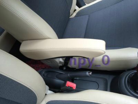 Car seat armrest leather handrail general car refires meters gray central styling for kia k2
