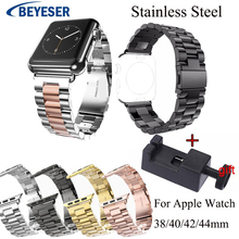 Replacement Watch Band For Apple Watch Series 4 1 3 2 watchBand steel Strap For iWatch 42mm 38mm 40mm 44mm Stainless Metal Bands new rugged protective case with strap bands for apple watch series 1 38mm 42mm watchband strap bracelet replacement accessory