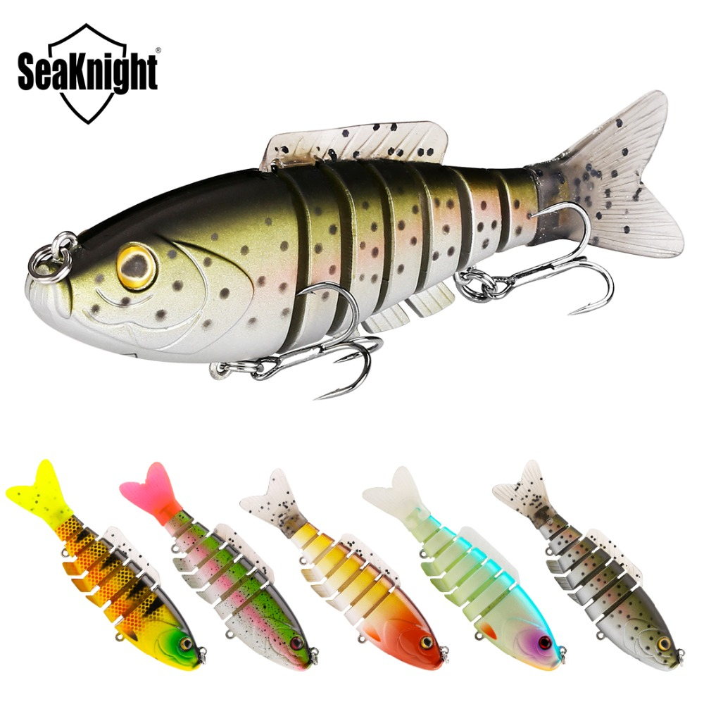 SeaKnight SK001 Swim Bait Fishing Lure Set 5PCS 8cm 19g Sinking Lure Segments Multi-Jointed Swimming Lure Life-like Swimbait