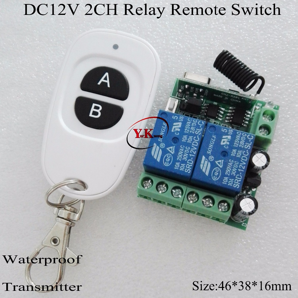 DC 12V 2 CH Channel Relay 10A Wireless Switch ASK 2 Relay Learning independently for Smart Home Box Broadlink 315 433 NO COM NC kind shooting ad78s dc relay ac240v 3a smart current relay ad78s 2 in stock