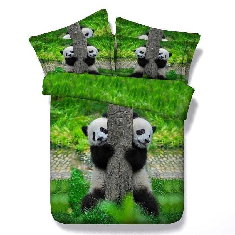 ヾ(^▽^)ノ4 unids/set/Lot sábanas Panda 3D Ropa de cama conjuntos ...