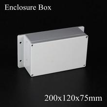 200*120*75 мм IP66 ABS Водонепроницаемый электронный корпус проект коробка Распределения переключатель junction outlet чехол 200 х 120 х 75 мм