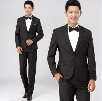 Chorus mariage groom wedding suits for men blazer boys prom suits fashion slim masculino latest coat pant designs black white