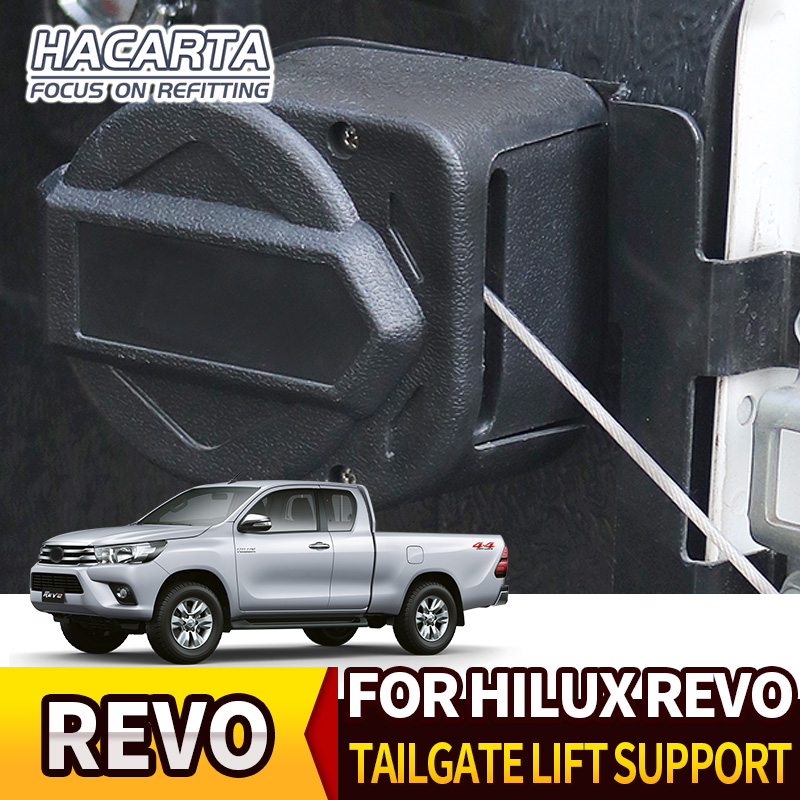 FOR TOYOTA HILUX REVO ROCCO 15+ TAILGATE LIFT SUPPORT EASY Rear gate SLOW UP AND SLOW DOWN Strut Stainless Steel Gas accessories lift kit for toyota hilux revo