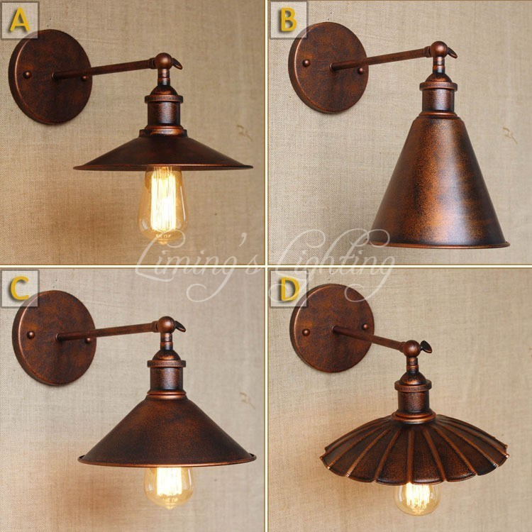 RH Retro Vintage Rustic Lampe Vintage Wall Light Fixtures Home Lighting Edison Loft Style Industrial Wall Lamp Sconces WandlampRH Retro Vintage Rustic Lampe Vintage Wall Light Fixtures Home Lighting Edison Loft Style Industrial Wall Lamp Sconces Wandlamp