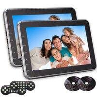 Dual Screen 10.1 Inch Ultra Thin Digital HD Monitor Headrest Car DVD Multimedia Player Rear Seat With Game AV Input HDMI Port FM