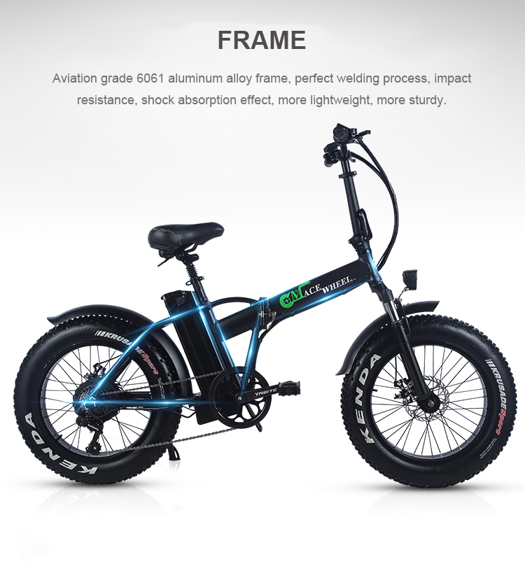 HTB1b2KiaoLrK1Rjy0Fjq6zYXFXag - 20inch electric mountian bicycle 48V 15ah lithium battery 500w rear wheel motor max speed 40km/h range 50-60km snow fat