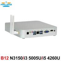 Partaker B12 N3150 i3 5005U i5 4260U Processor Ubuntu or Windows 10 Vga Mini PC with Fan