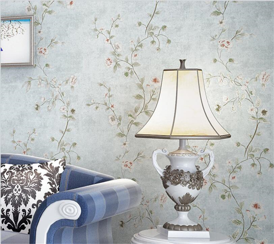 Beibehang papel de parede European style floral wallpaper solid color desktop bedroom living room background wall 3D wallpaper