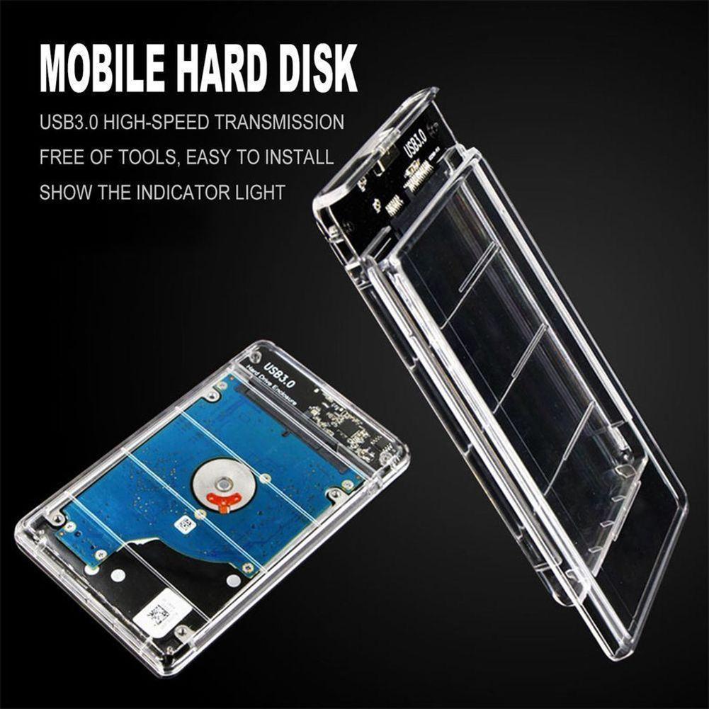 """2,5 """"transparent 5 Gbps Usb3.0 Zu Sata3.0 Hdd Fall Werkzeug Kostenloser Festplatte Gehäuse"""