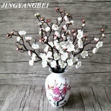 3pcs Artificial Flowers Cherry Blossom Bridal Decor Flowers Bouquet Silk Fake Flowers Decoration Wedding Decorative DIY