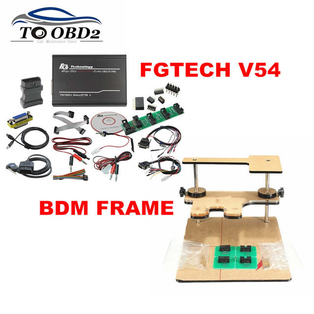 US $64 6 5% OFF|Galletto V54 FGTECH Add BDM Function TriCore OBD Function  BDM Frame Full Adapters Best ECU Tuning Programmer-in Car Diagnostic Cables