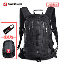 Swisswin Men Travel Backpack SWE9972 32L Large Capacity Backpack Male Swiss 15 6 Computer Backpack For
