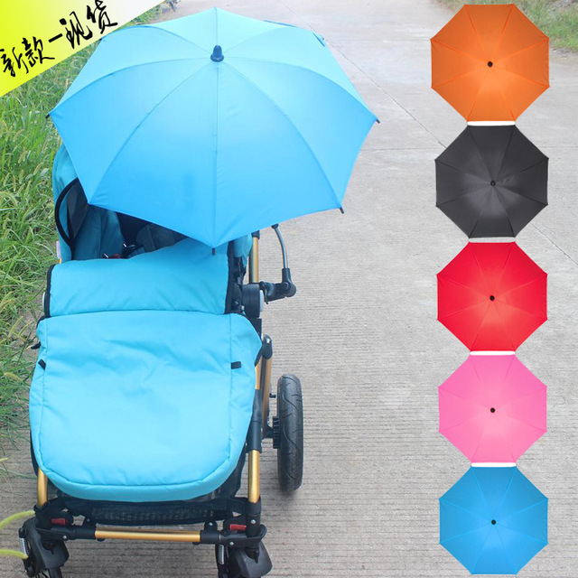 Resistente A UV Carro Cochecillo Cochecito de Bebé Paraguas abrazadera outdoorSunshade Brolly Parasol Sun Canopy