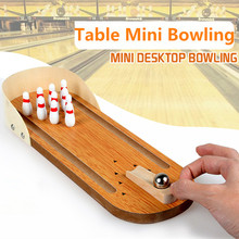 New Top Sale Children Classic Wooden Mini Desktop Bowling Game Toys Kids Parent Interactive Puzzle Desk Ball Board Games