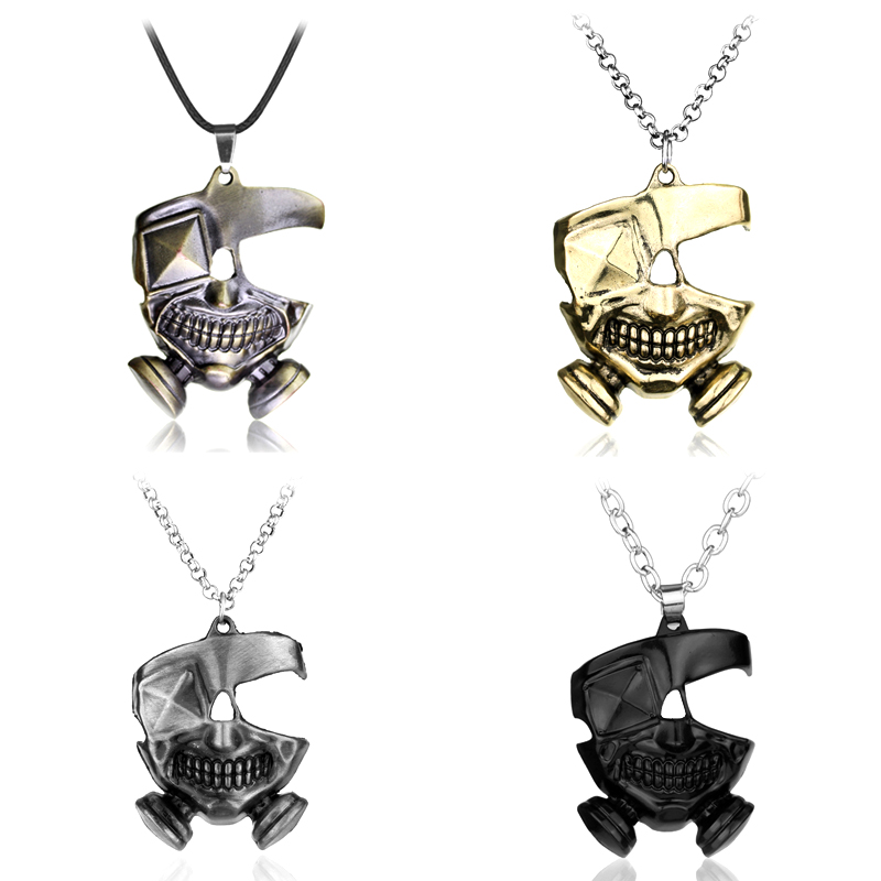 Маска Vintage Ожерелье & Pendants 3 Colors Japan Hot Anime Токио Ghoul Kaneki Ken Ожерелье Metal Pendant Necklace Fashion