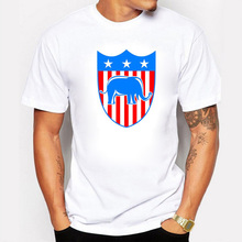 2017 Donald Trump T Shirt Men USA President Candidate Republican Election Campaign Vote Election Fitness Cotton White Tshirts
